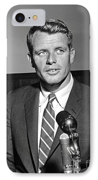 IPhone Case featuring the photograph Robert Kennedy 1961 by Martin Konopacki Restoration