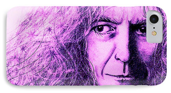 Robert Plant Purple IPhone Case by Patrice Torrillo