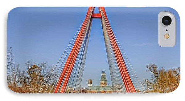 Robert Stewart Bridge - Columbus Indiana IPhone Case by Mountain Dreams