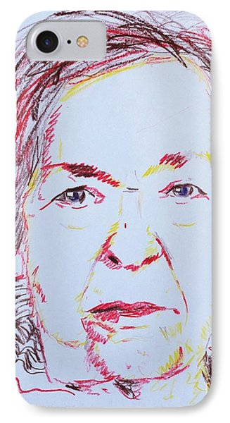 IPhone Case featuring the drawing Roberta's Portrait by PainterArtist FINs husband Maestro