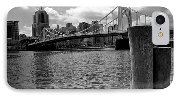 Roberto Clemente Bridge Pittsburgh Phone Case by Amy Cicconi