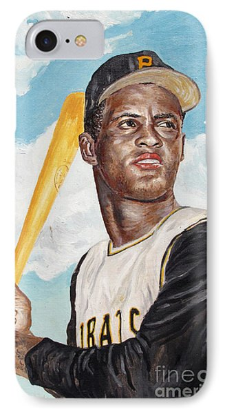 Roberto Clemente Phone Case by Philip Lee