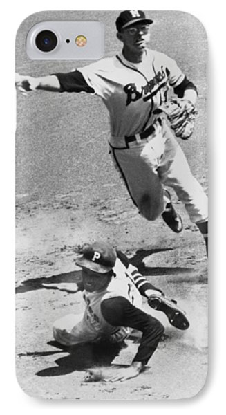 Roberto Clemente Sliding IPhone Case by Underwood Archives