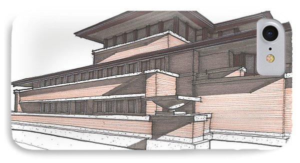 Robie House IPhone Case by Calvin Durham