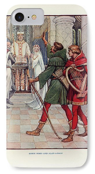 Robin Hood And Alan-a-dale IPhone Case by British Library