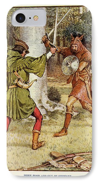 Robin Hood And Guy Of Gisborne IPhone Case by British Library