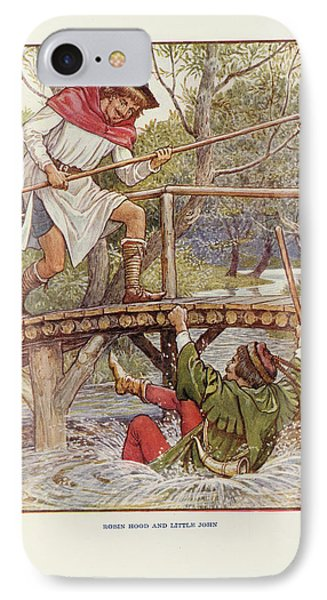 Robin Hood And Little John IPhone Case by British Library