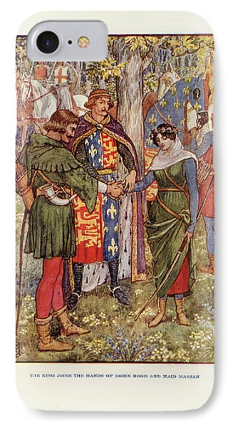 Robin Hood And Maid Marian IPhone Case by British Library