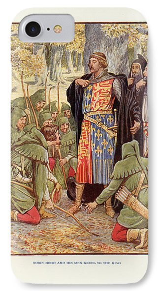 Robin Hood Before Richard I IPhone Case by British Library