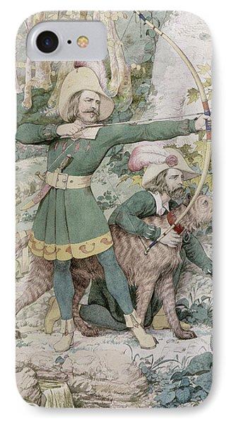 Robin Hood IPhone Case by Richard Dadd