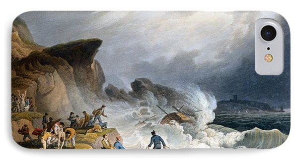 Robin Hoods Bay, Yorkshire, 1825 IPhone Case by Francis Nicholson