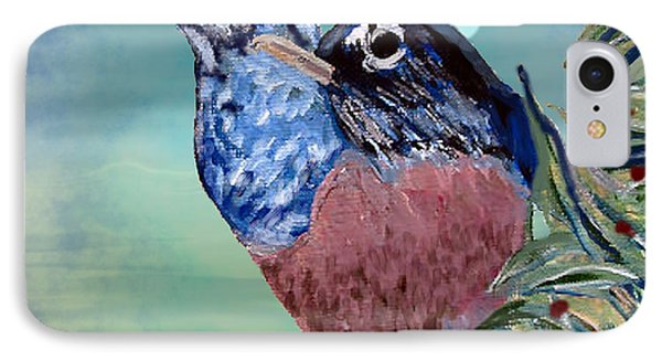 IPhone Case featuring the digital art Robin Mixed Media by Barbara Giordano