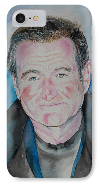 Robin Williams IPhone Case by Isabel Salvador