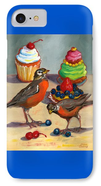 IPhone Case featuring the painting Robins And Desserts by Susan Thomas