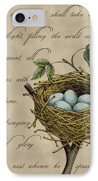 Robin's Nest IPhone Case by Christy Beckwith