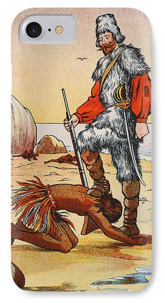 Robinson Crusoe And Friday IPhone Case by English School