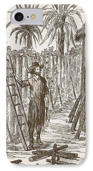 Robinson Crusoe Building His Bower Phone Case by English School