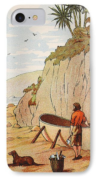 Robinson Crusoe's Canoe IPhone Case by English School