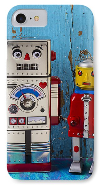 Robot Friends Phone Case by Garry Gay
