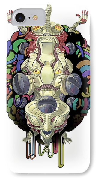 Robot God - Trinity 2.0 IPhone Case by Augustinas Raginskis