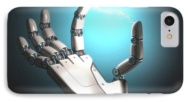 Robot Hand With Electric Connection IPhone Case by Ktsdesign