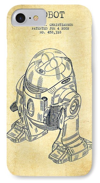 Robot Patent From 2002 - Vintage IPhone Case by Aged Pixel