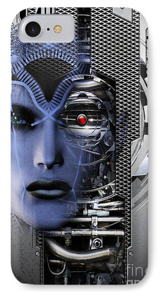 IPhone Case featuring the digital art Robotic Future B by Shadowlea Is