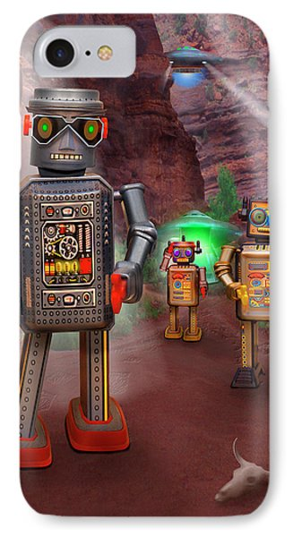 Robots With Attitudes 2 Phone Case by Mike McGlothlen