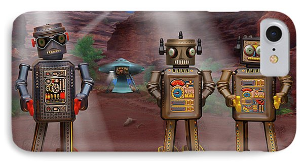 Robots With Attitudes  Phone Case by Mike McGlothlen