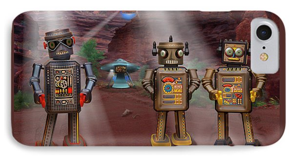 Robots With Attitudes  IPhone Case by Mike McGlothlen