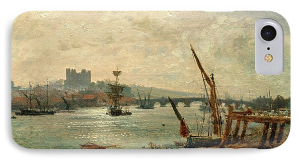 Rochester Cathedral And Castle, Frederick Nash IPhone Case by Litz Collection