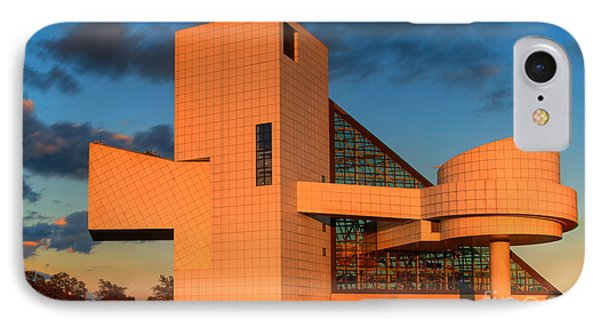 IPhone Case featuring the photograph Rock And Roll Hall Of Fame by Jerry Fornarotto