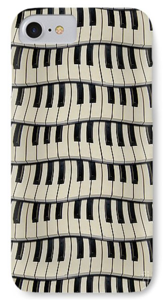 Rock And Roll Piano Keys IPhone Case by Phil Perkins