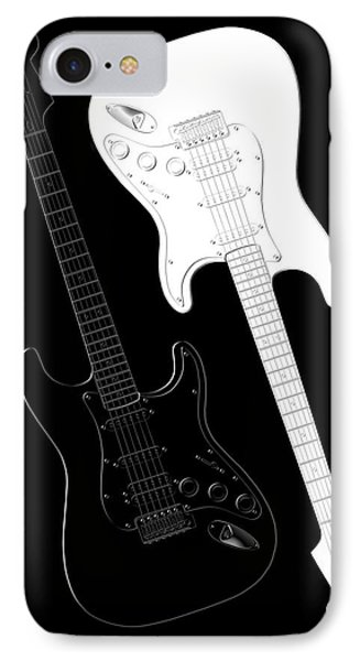 Music iPhone 7 Case - Rock And Roll Yin Yang by Mike McGlothlen