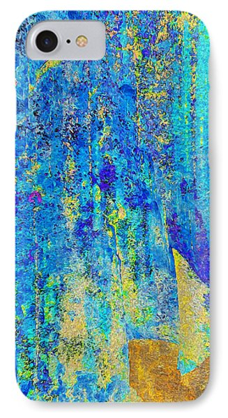 Rock Art Blue And Gold IPhone Case