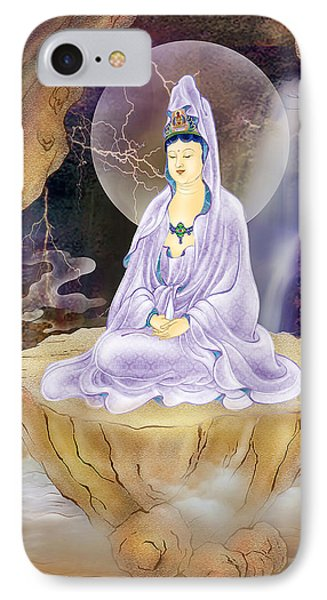 Rock Cave Avalokitesvara  IPhone Case by Lanjee Chee
