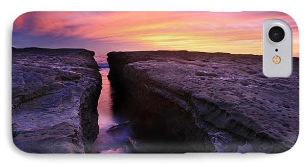 Rock Channel Sunset IPhone Case by Scott Cunningham