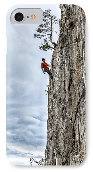 IPhone Case featuring the photograph Rock Climber by Carsten Reisinger