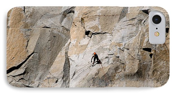 Rock Climber On El Capitan Phone Case by Mark Newman