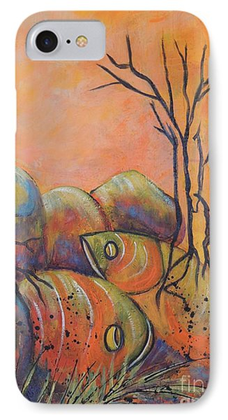 IPhone Case featuring the painting Rock Fishing by Lyn Olsen