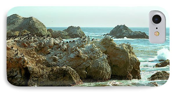 Rock Formations At A Coast, Bird Rock IPhone Case