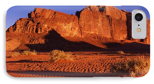 Rock Formations In A Desert, Jebel Um IPhone Case by Panoramic Images