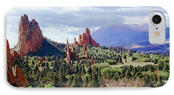 Rock Formations On A Landscape, Garden IPhone Case