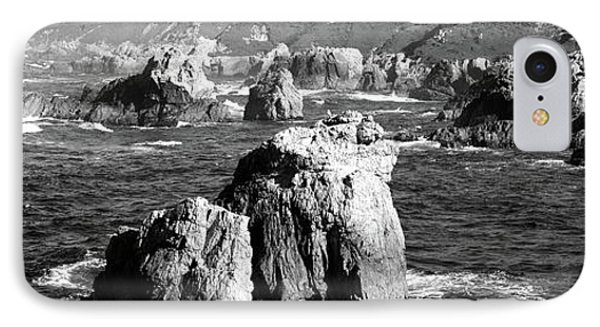 Rock Formations On The Beach, Big Sur IPhone Case by Panoramic Images