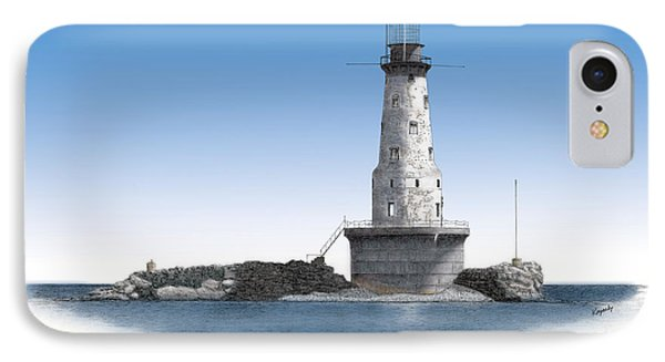 Rock Of Ages Lighthouse Titled Phone Case by Darren Kopecky