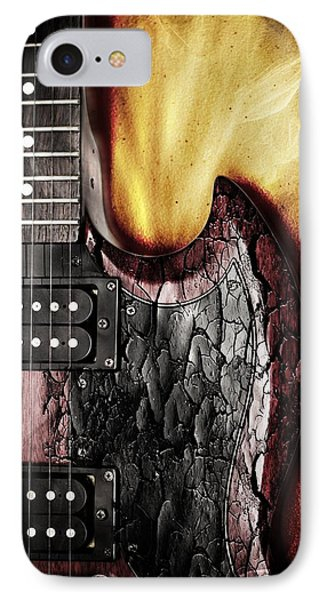 Rock On Gibson  IPhone Case by Aaron Berg