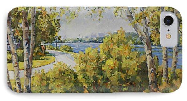 Rock River Bike Path IPhone Case by Alexandra Maria Ethlyn Cheshire