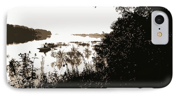 Rock River, View Near Dixon, Dixon, Ill, Rivers, Rowboats IPhone Case by Litz Collection