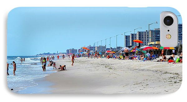 Rockaway Beach And Boardwalk Summer 2012 IPhone Case by Maureen E Ritter