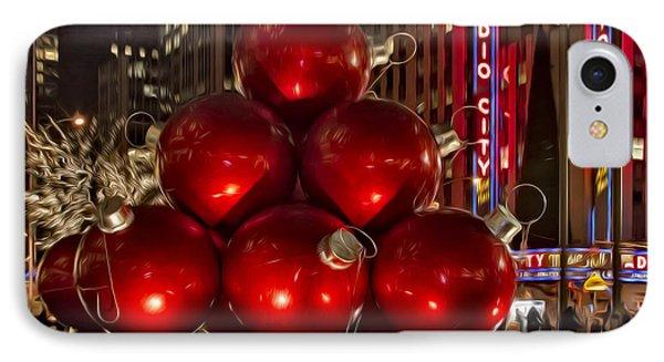 Rockefeller Center Cheer IPhone Case by Susan Candelario